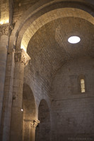 Arch of the south transept of the monastery - Girona, Spain