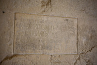 Ancient inscription on the wall of the Sant Pere de Galligants monastery - Girona, Spain