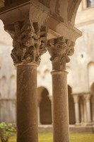 Detail of capitals in the cloister - Girona, Spain