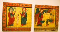 Medieval paintings on wood of the 14th century - Barcelona, Spain