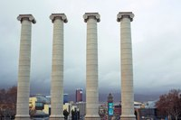 The Four Columns of Catalonia - Barcelona, Spain