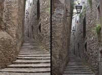 A street of the Call of Girona - Girona, Spain