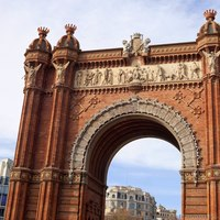 Detail of Barcelona's Arc de Triomf - Barcelona, Spain