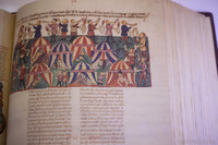 Facsimile of the first translation into Spanish of the Hebrew Bible from 1430 - Girona, Spain