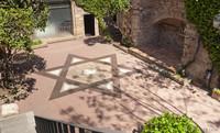 Star of David in the courtyard of Bonastruc ça Porta Center - Girona, Spain