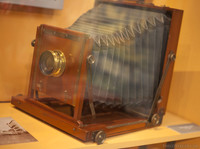 Travel photography camera from 1900 - Girona, Spain