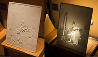 German porcelain lithophane from the 19th century - Thumbnail