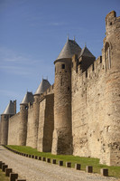 Inner wall of the fortress - Carcassonne, France