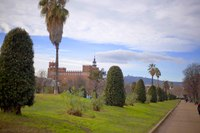 Southwest path of the Ciutadella Park - Barcelona, Spain