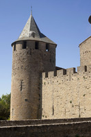 Tower and bridge of Comtal/Count's Castle - Carcassonne, France