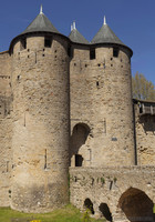 Entrance to Comtal Castle or the Count's Castle of Carcassonne - Carcassonne, France