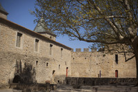 Interior courtyard of the Count's Castle - Carcassonne, France