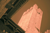 Tower Pinte in infrared - Carcassonne, France