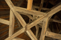 Wooden frame of a cupola of a tower in the inner wall - Carcassonne, France