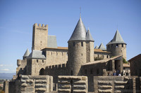 The Count's Castle and the Pinte tower - Carcassonne, France