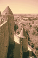 Towers, inner and outer walls of the Cité of Carcassonne - Carcassonne, France