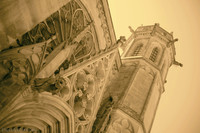 North transept tower of the Saint-Nazaire basilica of Carcassonne - Thumbnail