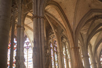 Interior of the Saint Nazaire basilica in the citadel of Carcassonne - Carcassonne, France