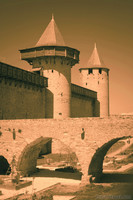 Bridge and towers of the Count's Castle of Carcassonne - Carcassonne, France
