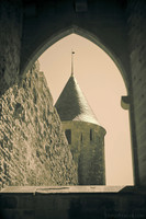 Tower of Justice near the Aude Gate - Carcassonne, France