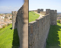 Outer wall of the citadel of Carcassonne - Carcassonne, France
