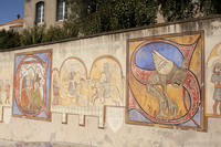 Carcassonne mural - Cour d'Amour / Court of Love - Carcassonne, France