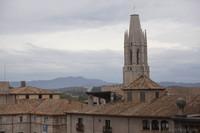 Bell tower of the Church of Sant Feliu - Girona, Spain