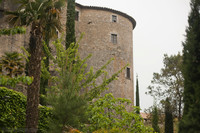 Cornelia tower from 1362 as seen from the Archaeological Walk - Girona, Spain
