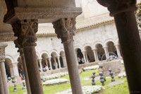 Capiteles de las columnas del claustro de la catedral de Girona - Girona, España