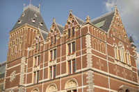 Northwest corner of the Rijksmuseum building - Amsterdam, Netherlands