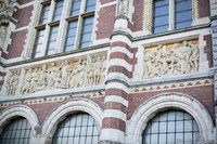 Frieze on the north façade of the Rijksmuseum - Amsterdam, Netherlands