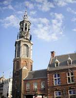 Munttoren and the Royal Delft Experience - Amsterdam, Netherlands