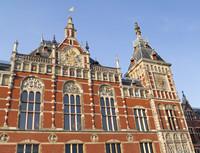 Façade of Amsterdam Central Station - Amsterdam, Netherlands