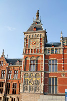 The western tower of Amsterdam Central Station - Amsterdam, Netherlands