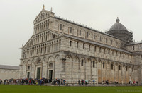West and south façades of the Pisa Cathedral - Pisa, Italy