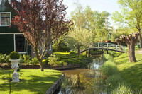 Canals bordering the gardens of the traditional Dutch houses - Thumbnail