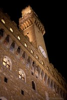Palazzo Vecchio di notte - Firenze, Italia