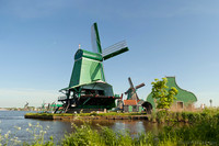 The windmills De Gekroonde Poelenburg and De Kat - Zaandam, Netherlands