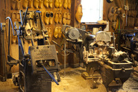 Machinery used to manufacture clogs - Zaandam, Netherlands
