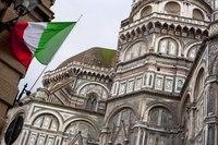 Dettaglio dell'abside della Cattedrale di Firenze - Firenze, Italia