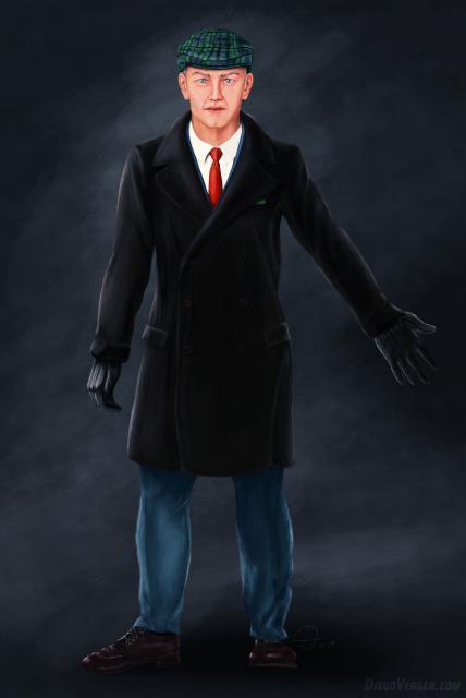 Dibujo de concepto de personaje - Qi Vanrick
