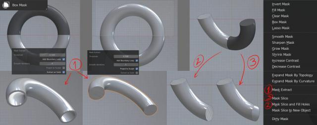 Mode Sculpture dans Blender 3D - Extraction de masque