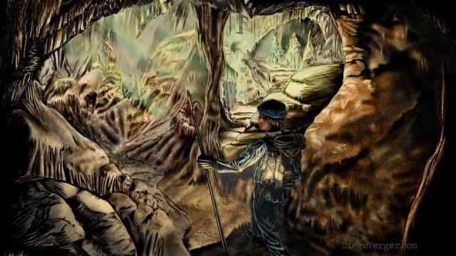 Voyage au Centre de la Terre - Illustration réalisée en Krita