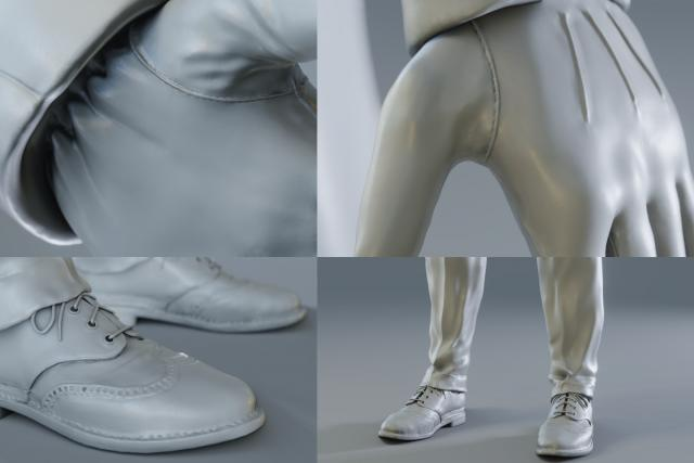 Vanrick - 3D Character Sculpture - Gloves and Shoes details