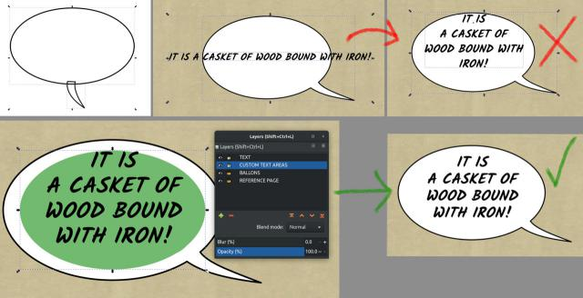 Creating Speech Balloons in Inkscape