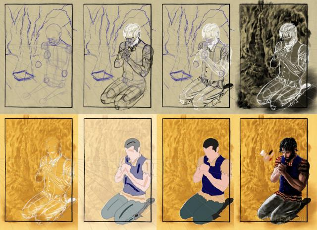 The Count of Monte Cristo - Drawing stages