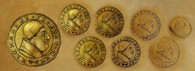The Count of Monte Cristo - Gold coin drawing