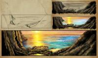 The Count of Monte Cristo - Sunset drawing